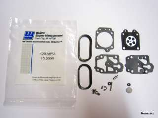 GENUINE WALBRO WYA CARBURETOR REPAIR KIT K20 WYA