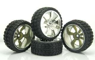 RC 110 Car On road 7 26mm Spoke Plastic Wheel Rim &Rubber Tyre,Tires