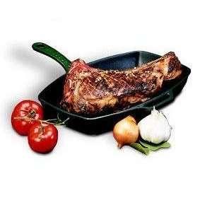 World Cuisine Red Cast Iron Rectangular Grill [World