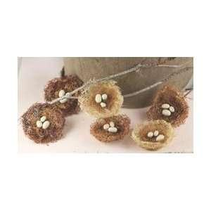 Prima Flowers Cradle Bird Nest With Eggs 1.75 6/Pkg