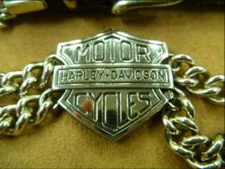 Harley Davidson Boot Chain with Leather Buckle