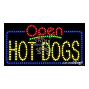 Hot Dogs LED Sign 17 inch tall x 32 inch wide x 3.5 inch deep outdoor