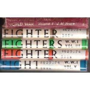 War Planes of the First World War 5 Volumes J.M. Bruce Books