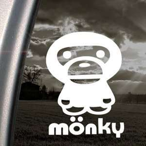Anime Monkey Cartoon Decal Car Truck Window Sticker: Arts