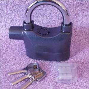 Heavy Duty Siren Alarm Padlock 3 Keys Instructions for Bicycle Shed