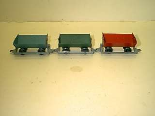 AMERICAN FLYER MINERS WORK TRAIN CARS GOOD CONDITION