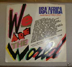 We are the World 45 record USA Africa Michael Jackson