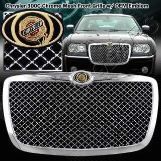 2005 2010 Chrysler 300/300C AWD SRT8 Chrome Mesh Front Grille Grill w