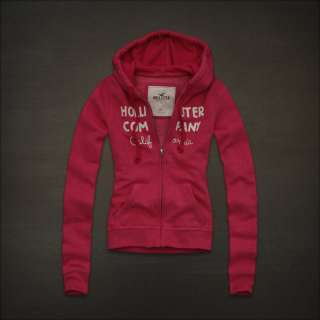 NWT HOLLISTER Abercrombie Womens Sweatshirt Fleece Hoodie Jacket S, M