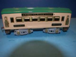 AMERICAN FLYER O GAUGE 3109 WITH 3 PREWAR PASSENGER CARS