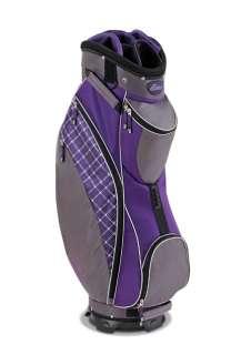 New Datrek 2012 D Light Ladies Golf Cart Bag (Purple Plaid)