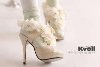 Fashion flower high heel Sandals shoes L3204 UK sz2 5.5