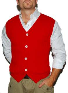 POLO RALPH LAUREN MENS CASHMERE SWEATER VEST RED NWT L