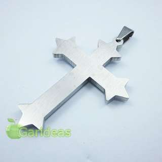 Stainless Steel Multi Cross Chain Pendant Necklace Item ID3591