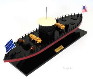 USS Monitor Civil War Ironclad Wooden Ship Scale Model 24 US Navy