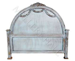 Hand Carved Solid Wood Gothic Head board King Queen