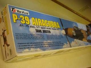 TOP FLITE P 39 AIRACOBRA RADIO CONTROLLED MODEL AIRPLANE KIT