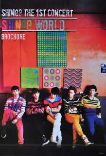 Shinee World Korean Boy Band Poster Brochure New 34x23