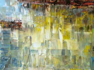 WKS Modern Original Abstract Landscape Palette Knife Art Deco Oil