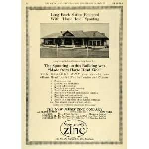 1922 Ad Long Island Railroad Station Train Depot Horse Head New Jersey