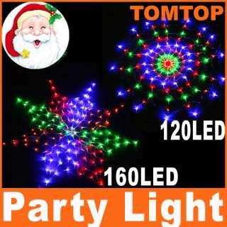 110V / 220V Colorful 160 LED / 120 LED Net Lights For Christmas Party