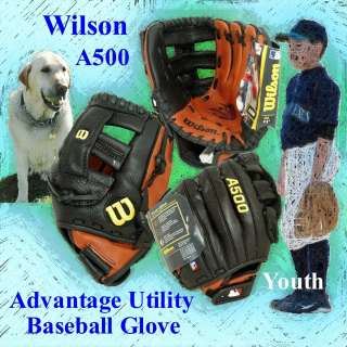 A500 Advantage Utility Baseball Glove Right Throw 11 Youth