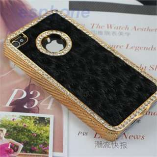 Luxury Bling Colorful Crystals Rhinestones Leopard Case Cover for