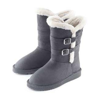 Vancl 2011 fashion trend womens ladies Plush Strapped 8 Inch Snow