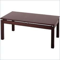 Winsome Linea Solid Wood Espresso Coffee Table 021713927408