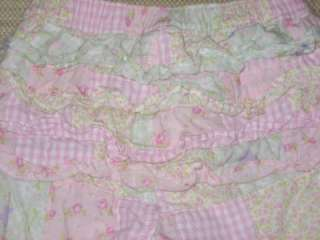 Baby Gap Patchwork Pants lined nb 3 6 mths baby girl ruffle bottom