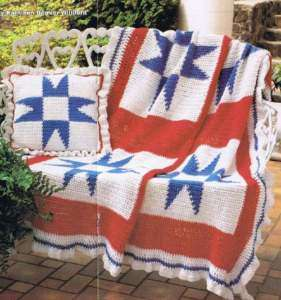 Free Crochet Pattern - Six Point Star Afghan from the Afghans Free