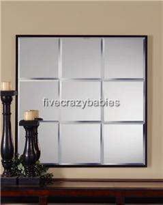 Large Square Divided Light Wall Mirror XL Oversize Window Panes