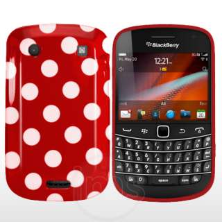 London Magic Store   Red Polka Dots Gel Case For Blackberry Bold 9900