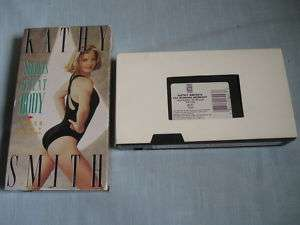 LOT OF 2 KATHY SMITH WORKOUT VHS Fat Burning+Lower Body