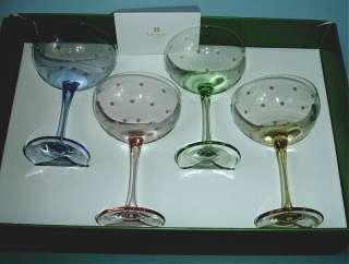 Kate Spade Larabee Dot Pop Mini Champagne Glasses Set of 4 Assorted