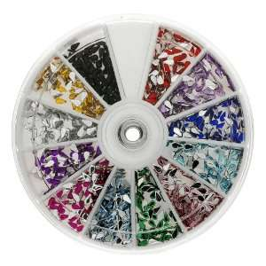 Premium MASH 1200 Piece 12 Color Nail Art Nailart 3D Design Tear Rain