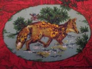 UPHOLSTERY FABRIC ~ WILD ANIMALS DEER FOX RABBIT QUAIL MALLARD RACCOON