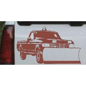 Snow Plow Truck Business Car Window Wall Laptop Decal Sticker    Brown