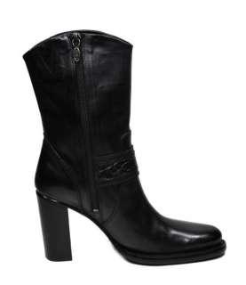 Danielle 9 Black Leather Women Size Dress Casual Boots 84042