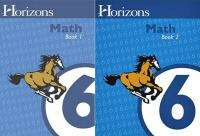 Alpha Omega~Horizons~Math Grade 6 ~Book 1 & 2~6th~NEW
