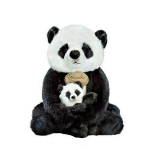 Russ Berrie Yomiko 11.5 Plush MOMMY & BABY PANDA Bears ~NEW