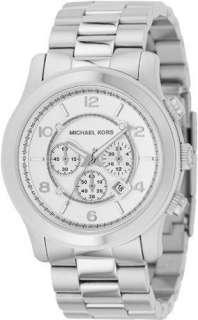 Michael Kors Mens Silver Steel Bracelet OverSized Chronograph Watch