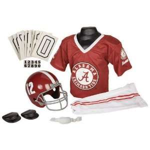 Alabama Crimson Tide Youth NCAA Deluxe Helmet and Uniform