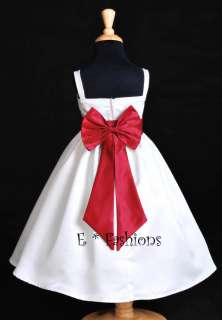 APPLE RED PAGEANT FLOWER GIRL DRESS L 2 4 6 8 10 #832