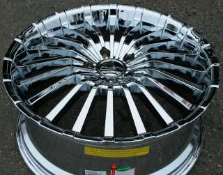 PANTHER SPLINE 911 20 CHROME RIMS WHEELS CADILLAC CTS STS DTS GM
