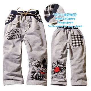 boys gray mickey mouse pants 2 8 yrs 9002