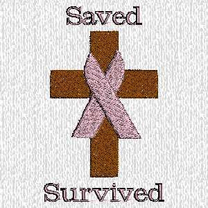 Embroidered Christian Breast Cancer Survivor T shirt