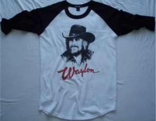 Waylon Jennings t shirt vtg tour hank williams jr merle haggard johnny
