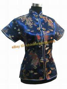 Chinese Women Embroidery Dragon Shirt Blouse Tops