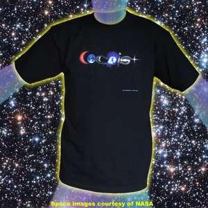 Coexist Cosmic T shirt S 2X Astronomy Stars Galaxies Sun Cosmos Earth